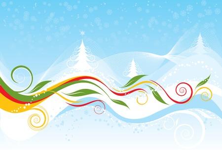 a sprig: Christmas background