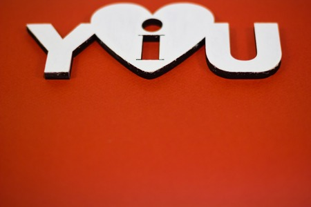 i love you sign: I love you sign on a white stencil on a red background Valentines Day