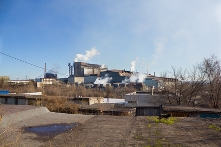 fume: Large factory fume with  very white smoke