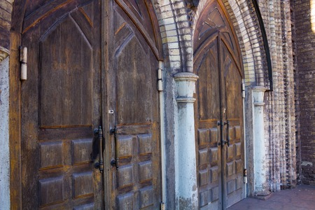 gothic style: View of the beautiful arched doorway in the Gothic style