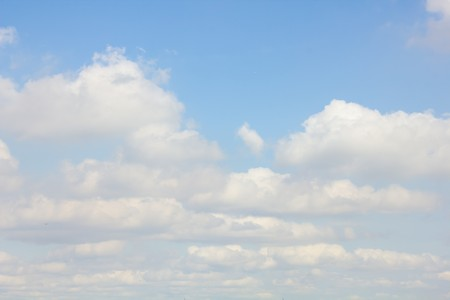 cerulean: Beautiful clouds of different shapes on a blue sky