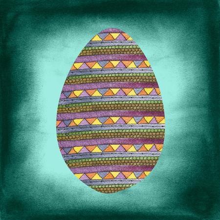 Easter egg post card Stock Photo