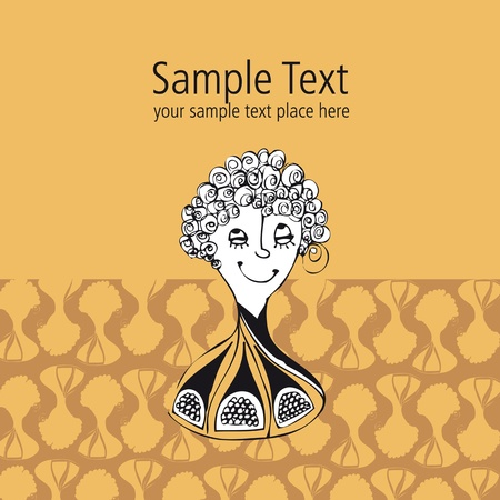 vectorial template for post card design and textile pattern