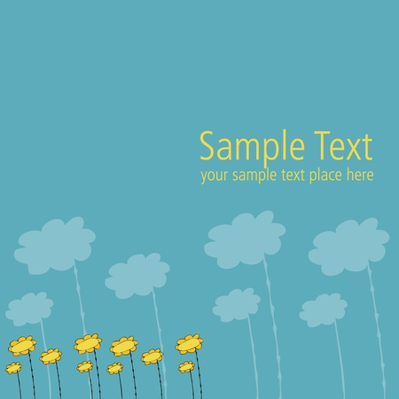 vectorial template for post card design