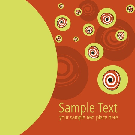 red vectorial template for post card design and textile pattern Stock Photo