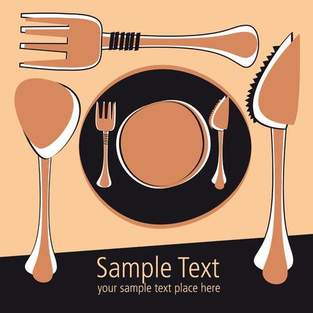 vectorial template for menu and post card design