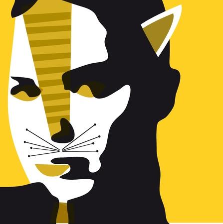 cat woman Illustration