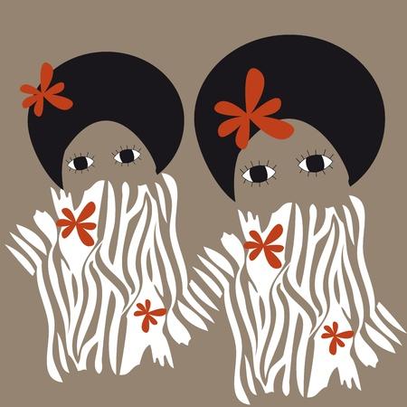 african woman Illustration