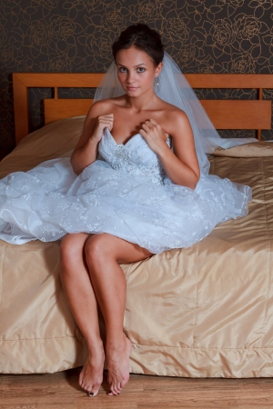 feet in bed: Bride on the Bed