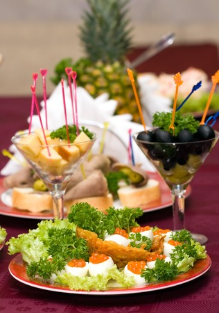 cater: Catering - caviar appetizer in eggs beautifully decorated