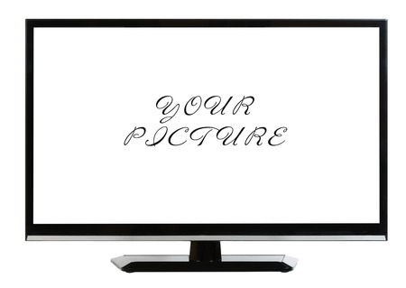 lcd: Modern plasma - LCD TV set isolated at white background