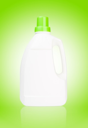 purge: White bottle of cleaning supply, laundry detergent, fabric softener or other purpose  isolated