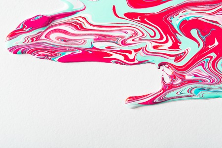 Liquid abstract paint background. Fluid painting texture. Colorful mix of acrylic vibrant colors, copy space