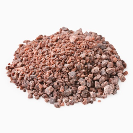 Pile of Black indian salt isolated on white background, Kala Namak Imagens