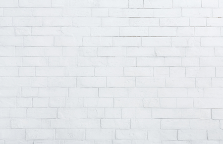White brick wall texture background. Brick wall in interior concept