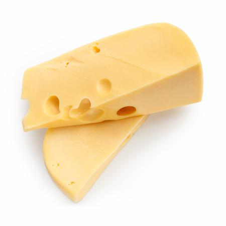 Two blocks of dutch cheese on white background Stock fotó
