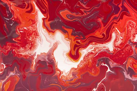 Red stains abstract background. Pale fire concept. White and red swirls creating marble effect of watercolors 免版税图像