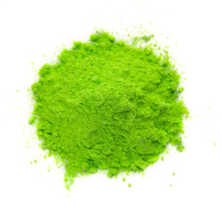Indian holiday concept. Green heap paint for India color festival, empty space Stockfoto