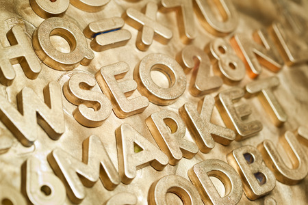 sucsess: SEO Market Gold Type Letters