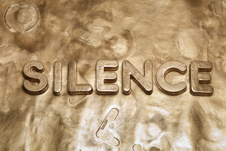 Silence Gold Word 3d Letters