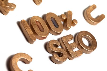 letras de oro: 100% SEO Las letras del oro 3D
