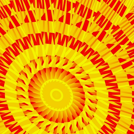 sun s: Mosaic of the suns - Mosaic in the form of the sun s motive  Stock Photo