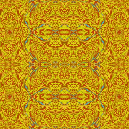 Yellow ornament - Symmetrical ornament, suitable as an inspiration for a variety of purposes  wallpapers, pattern of carpet, aras or other fabric, monitors and etc