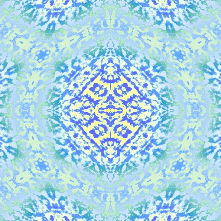 The iced ornament - A mosaic in this picture has structure of hexagonal. Figure gives the impression of cold.