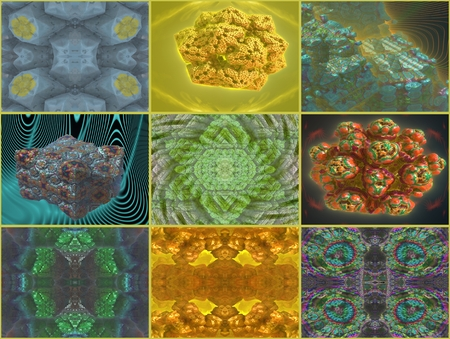 compilation: Threedimensionality: This compilation have a Composed of images and threedimensional display That objects and patterns.