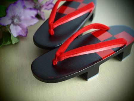 beautiful geta the Japanese footwear for kimono Stock Photo - 11601641