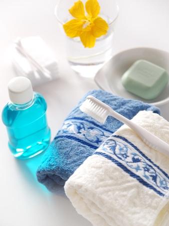 toweling: morning bathroom