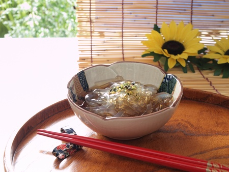 japanese healthy dessert tokoroten photo