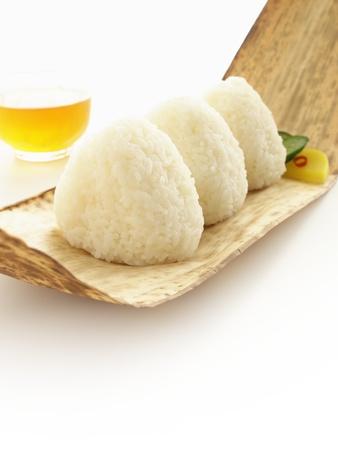 japanese rice ball shio onigiri Stock Photo