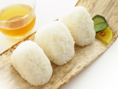 japanese rice ball shio onigiri photo