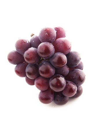 pink grape on white background