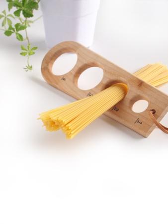 spaghetti and measure Stock Photo