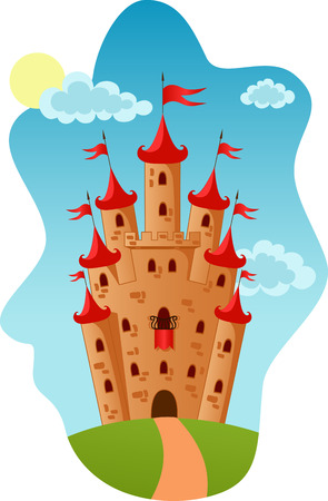 Illustration of the Castle in sunny day Vector