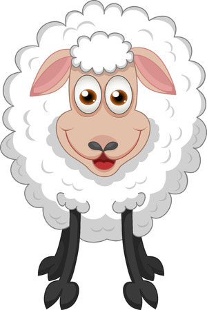 Vector illustration of funny sheep