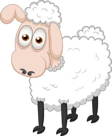 sheep love: Vector illustration of cartoon sheep