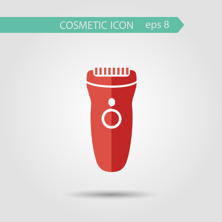 clipper: Vector stylish flat icon of clipper of beauty and cosmetics.