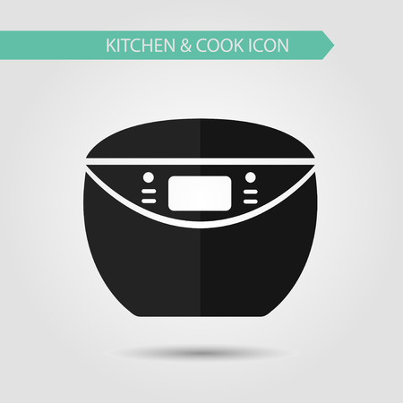 bread maker: Vector flat stylish icon of kitchen and cooking. Kitchen utensils. Bread maker. Illustration