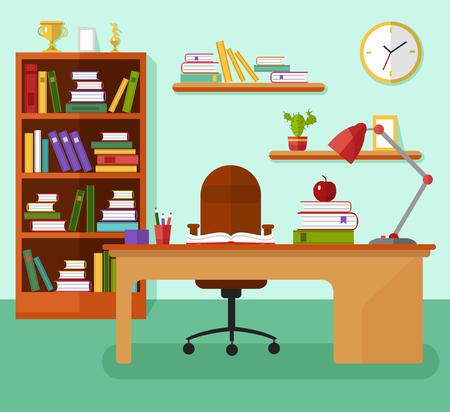 Flat design illustration of a comfortable learning concept Illustration
