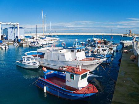 Tourism: This is a landscape of Monopoli touristic seaport. Apulia. photo