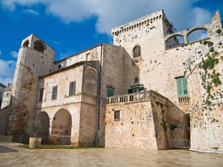 Tourism: This is the Aragonese Castle of Conversano in Apulia.  photo