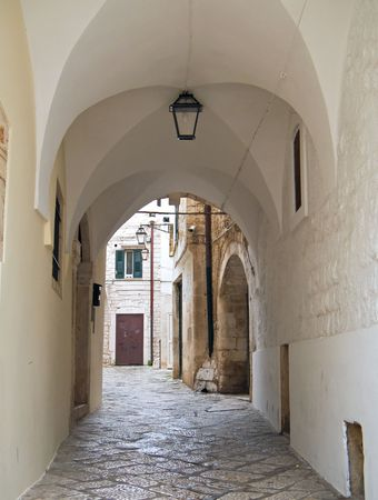 conversano: Tourism: This is a characteristic alley of Conversano. Apulia.