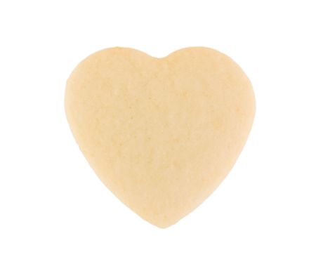 Food: This is a close-up of a shortbread heart. Stock Photo - 6336458