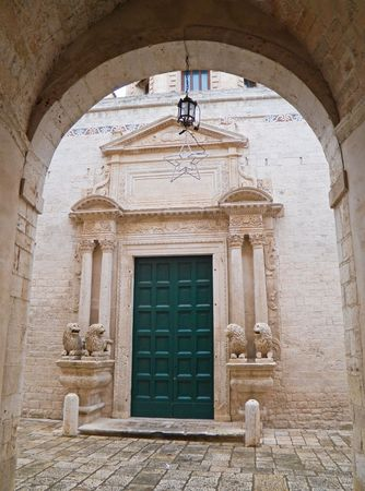 Religion: This is the main entrance of St. Benedetto Convent in Conversano. Apulia. photo
