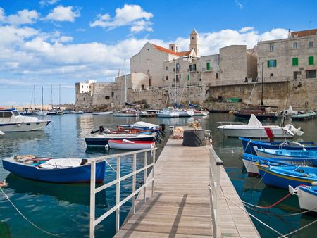 Tourism: This is a panoramic view of Giovinazzo touristic seaport of in Apulia. photo