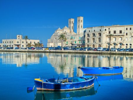 Tourism: This is a landscape view of touristic port in Molfetta. Apulia. Stock Photo - 6422411