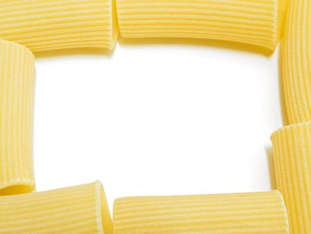 durum: Food: This is a frame of pasta called rigatoni.